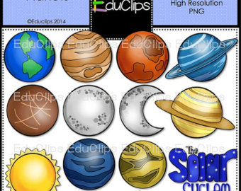 Planet clipart science collage Art Art Clip Planets Etsy