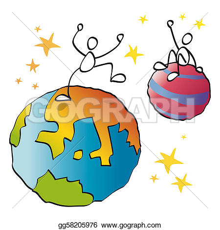Planet clipart funny Drawing gg58205976 Funny GoGraph Clipart