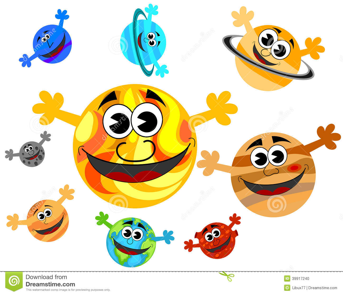 Planets clipart funny #6