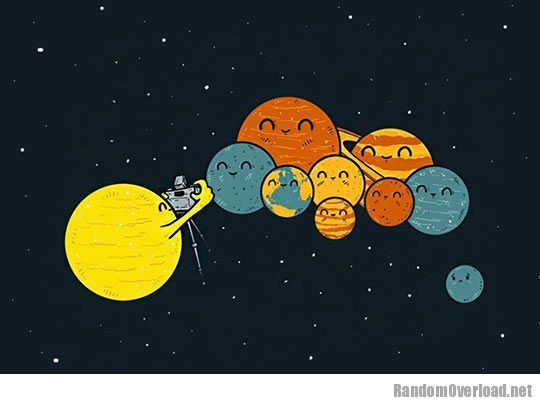 Planets clipart funny #4
