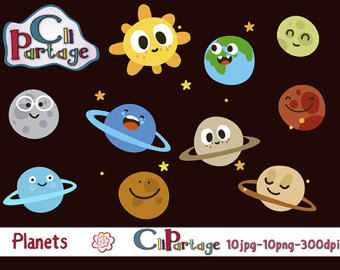 Planets clipart funny #2