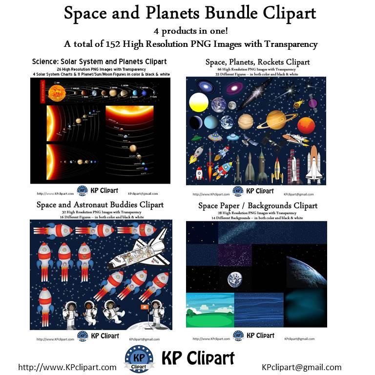 Planets clipart individual Teachers includes Teachers Rockets Bundle