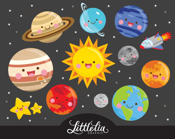 Space clipart solar system #10