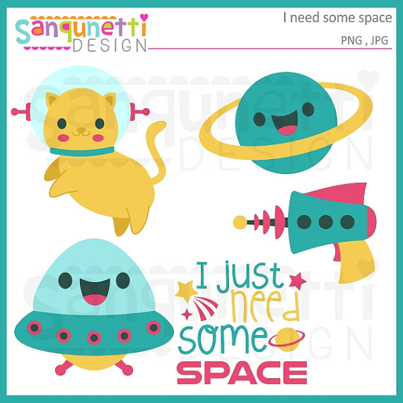 Planet clipart spaceship Space clipart Studio Etsy clipart