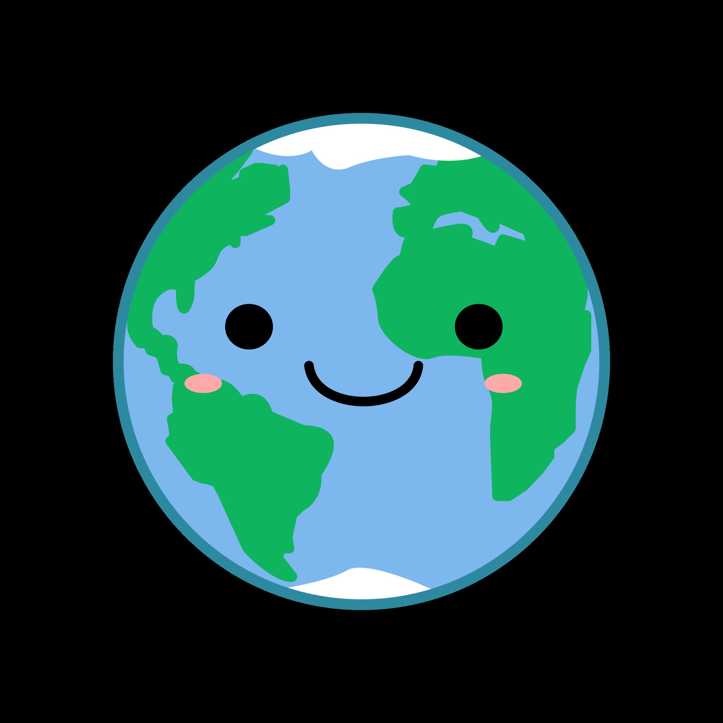 Planet clipart kawaii Kawaii Earth Kawaii Earth Clipart