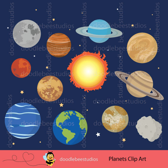 Space clipart solar system #2