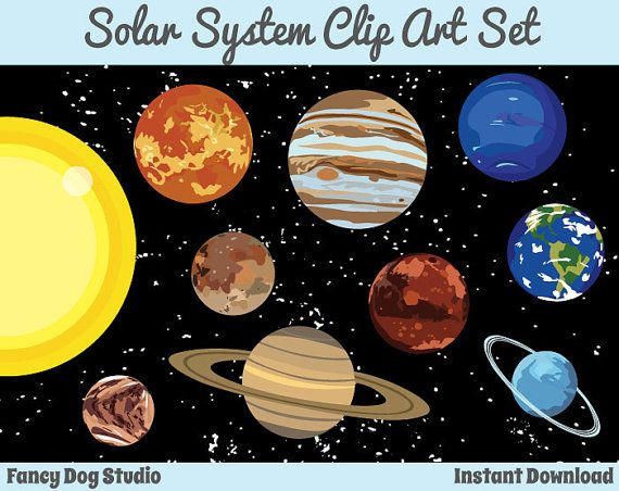Space clipart solar system #1