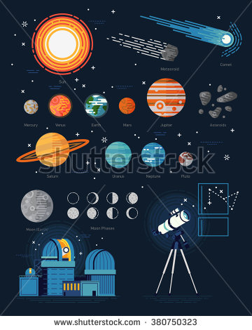 Asteroid clipart star planet Icons astronomy vector Solar System