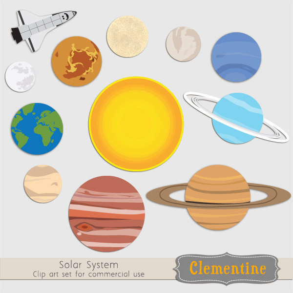 Space clipart solar system #6