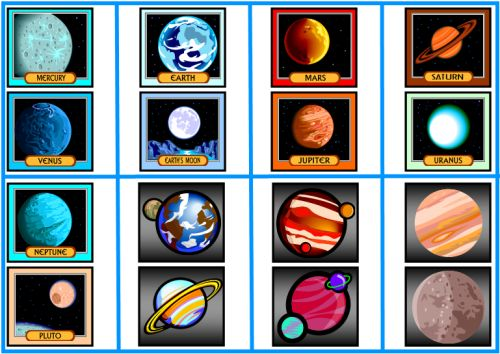 Planet clipart printable Art Rossy: clip clip planets