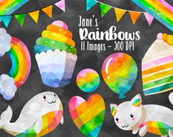 Planets clipart rainbow #14