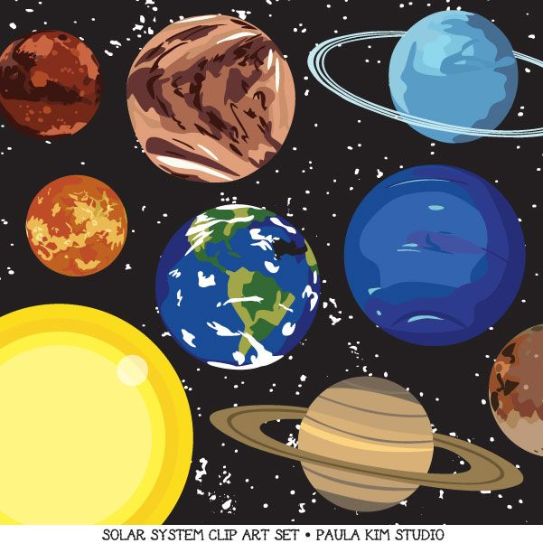 Planet clipart science collage About on best Art Pinterest