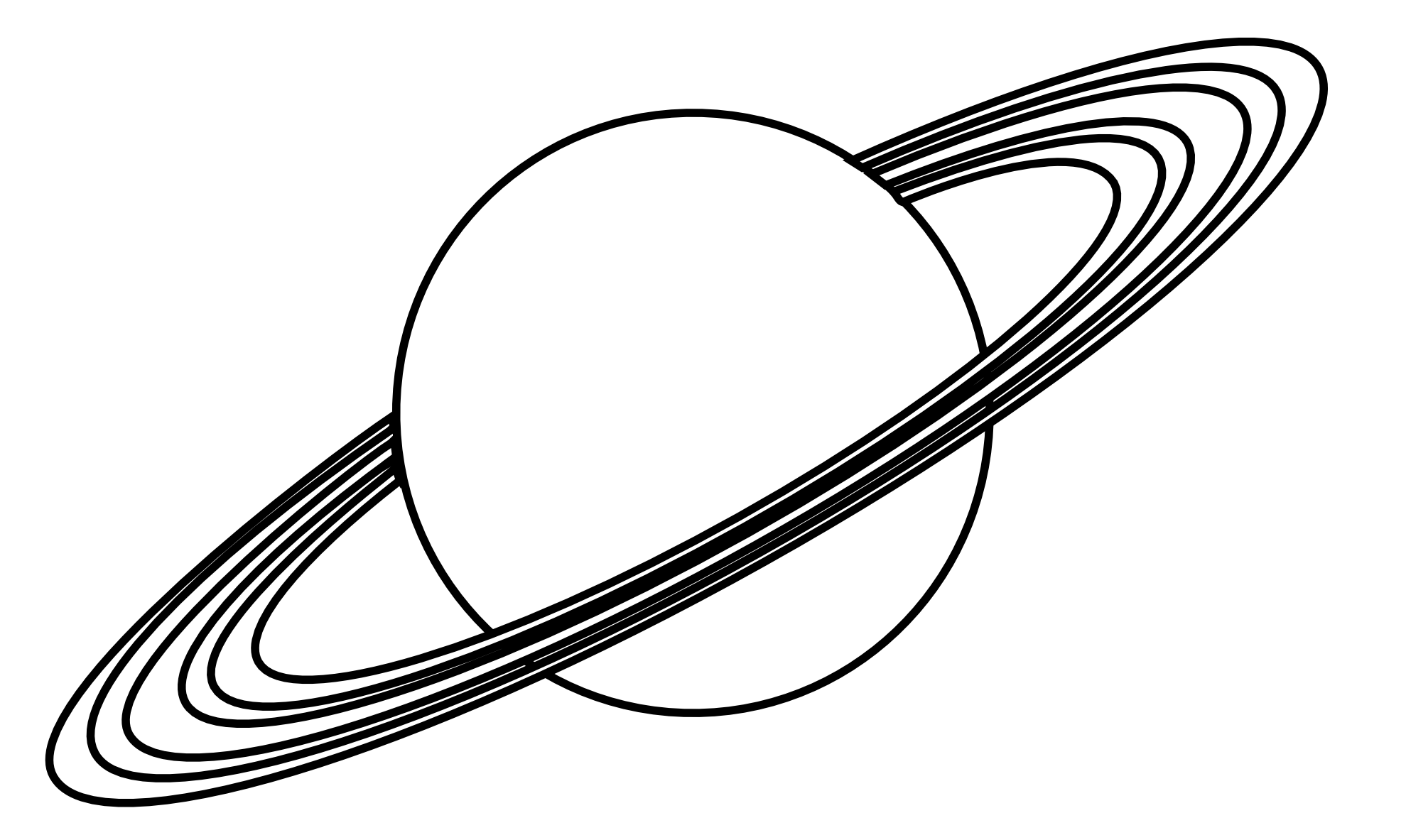 Planets clipart space science #12