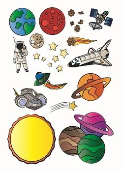 Planets clipart space science #5