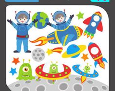 Planets clipart space science #15
