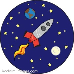 Science clipart rocket ship Cartoon of clip space space