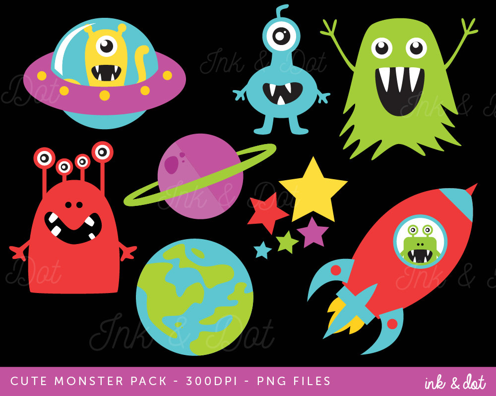 Planets clipart spaceship #15