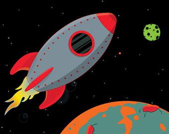 Planet clipart spaceship Art Ship Spaceship Clipart Digital