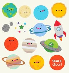 Planets clipart spaceship No Vintage Rocket Spaceship Digital