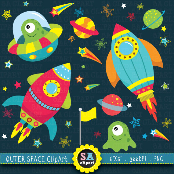 Planet clipart spaceship Clip space Astronaut Space for