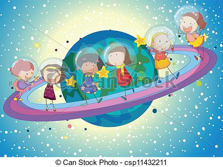 Planets clipart universe Illustration on on planet kids
