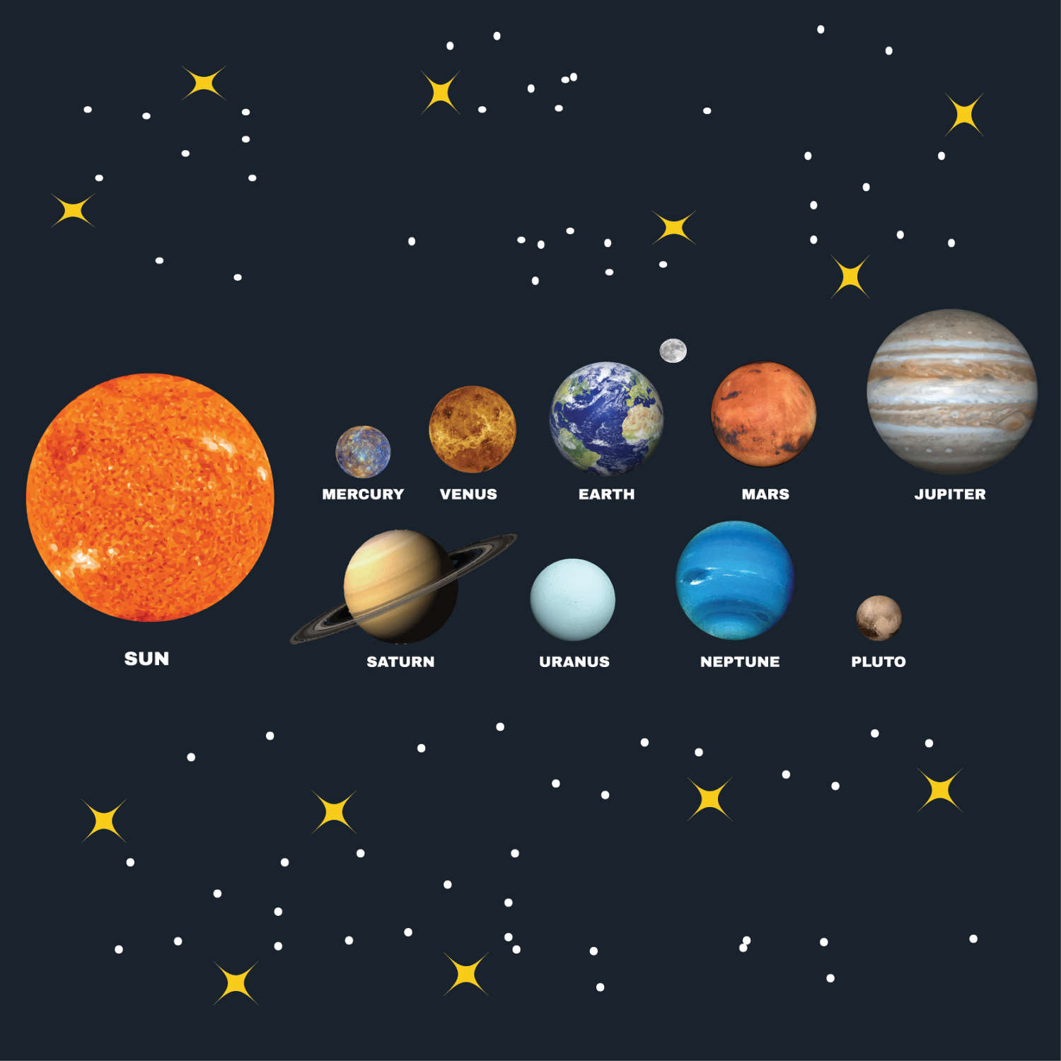 Planet clipart printable Sytem collage file planets This