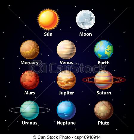 Planet clipart colored Art  707 Glossy Clipart