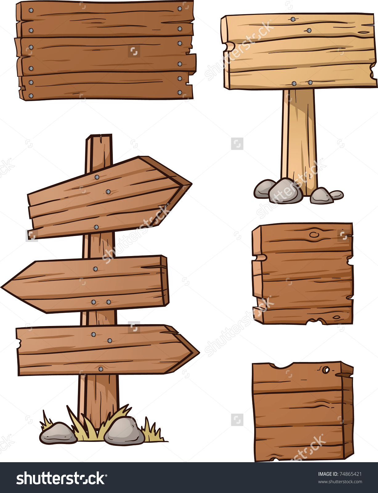 Planks clipart signage With wooden illustration wooden vector