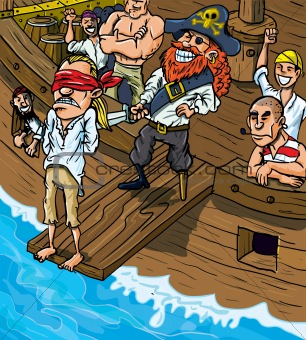 Planks clipart walk the plank The hard to morning plank