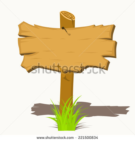 Planks clipart wooden stick Clipart grass Vector illustration on