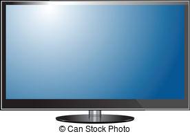 Display clipart plasma tv Vector TV screen Vector of