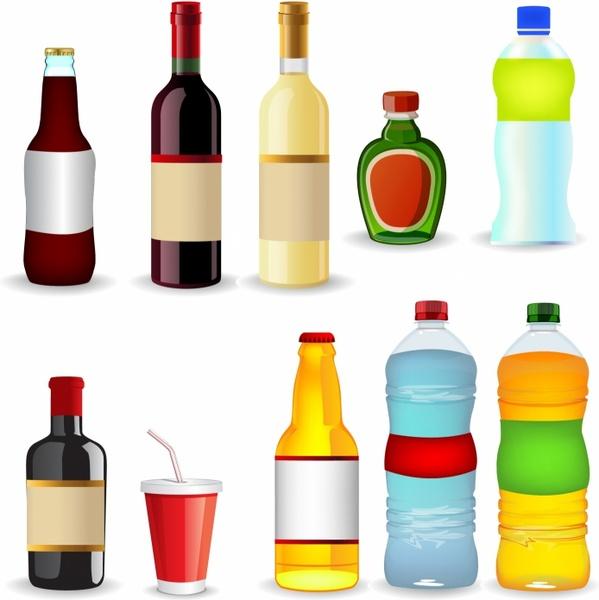 Bottle Cap clipart water bottle (3 various vector  Free
