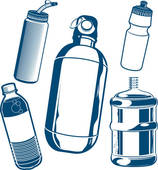 Bottle clipart water container Clip Free · Collection Royalty