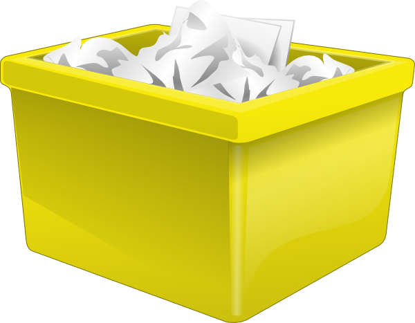 Yellow clipart recycle bin Vector Clip art royalty