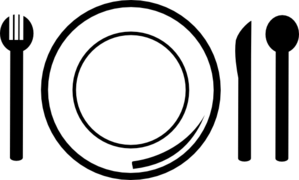 Plate clipart black and white #6
