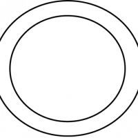 Plate clipart black and white #10