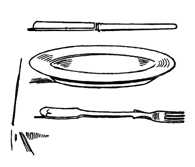 Plate clipart black and white #5