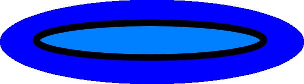 Plate clipart blue #6