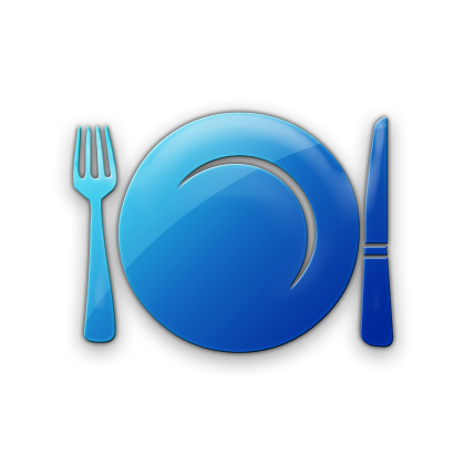 Plate clipart blue (Plates) Dinner Icon » Icon