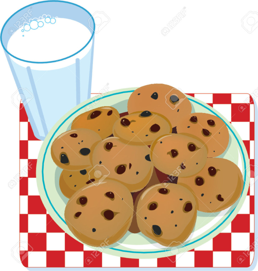 Biscuit clipart plate cookie Of Glass Cliparts Plate Milk