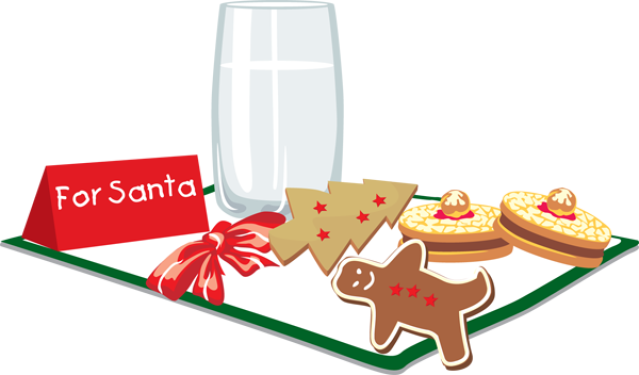 Biscuit clipart christmas cookie Collection Clip Cookie Santa Christmas
