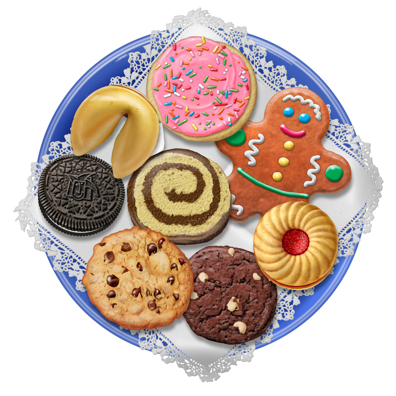 Biscuit clipart plate cookie Christmas Christmas Cookie clip cake