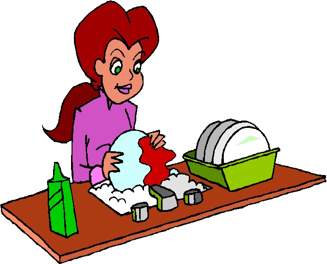 People clipart washing dish Art Clip Art Clipart on
