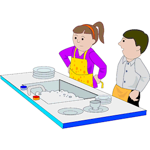 People clipart washing dish Clean Cliparts Cliparts clipart Zone