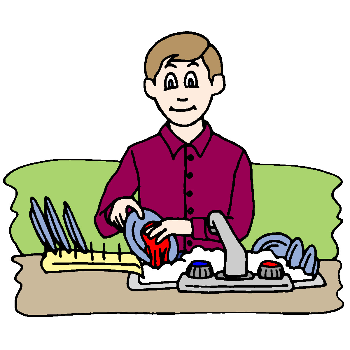 Plate clipart clean dish Others Cleaning and Dirty Cliparts