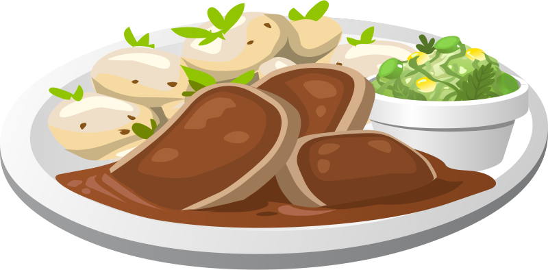 Covered clipart food dish Art Free Plate Clip Food