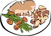 Plate clipart dining Clipart & Art Images Dinner