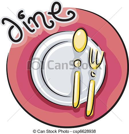 Plate clipart dining Csp6628938 Dining  Plate of