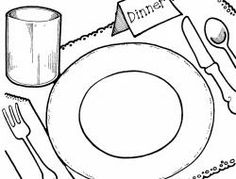 Plate clipart dining  of of art clip