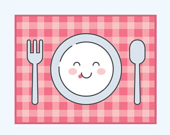 Plate clipart dining Spoon Etsy mat clipart of